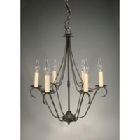 Signature 6 Light 19 inch Dark Brass Chandelier Ceiling Light in No Crystals
